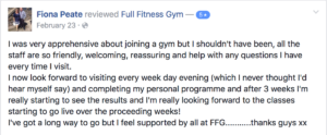 Full Fitness Gym Customer Review 5star Watton Gym
