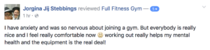 Full Fitness Gym Customer Review 5 star Watton Gym muscle workout plan norfolk